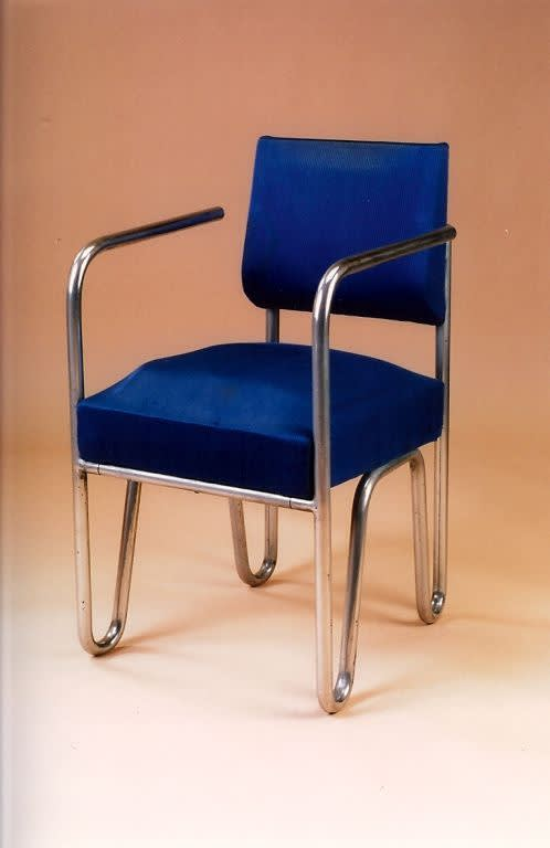 Early pair of tubular metal chairs by andre sornay  ca. 1929