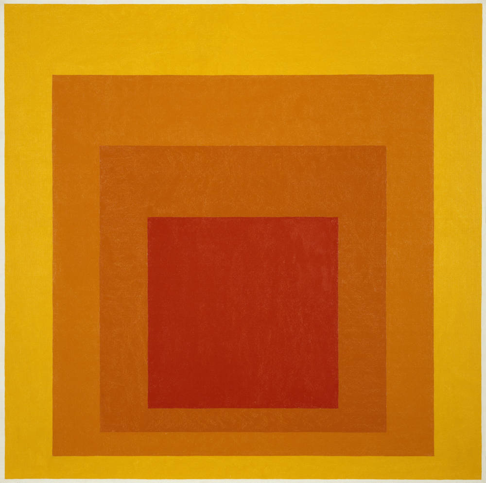 Josef albers  homage to the square  glow  1966