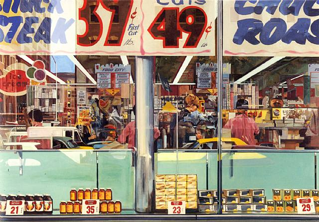Richard estes food city supermarket new york city 1960s