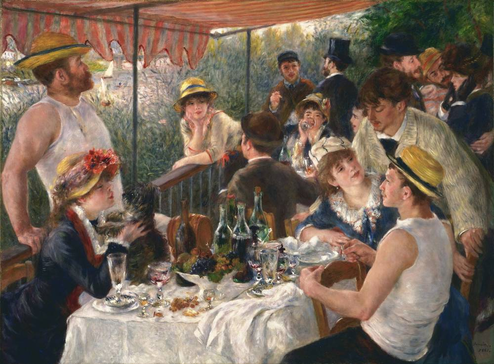 Pierre-Auguste Renoir , Luncheon of the Boating Party, 1881