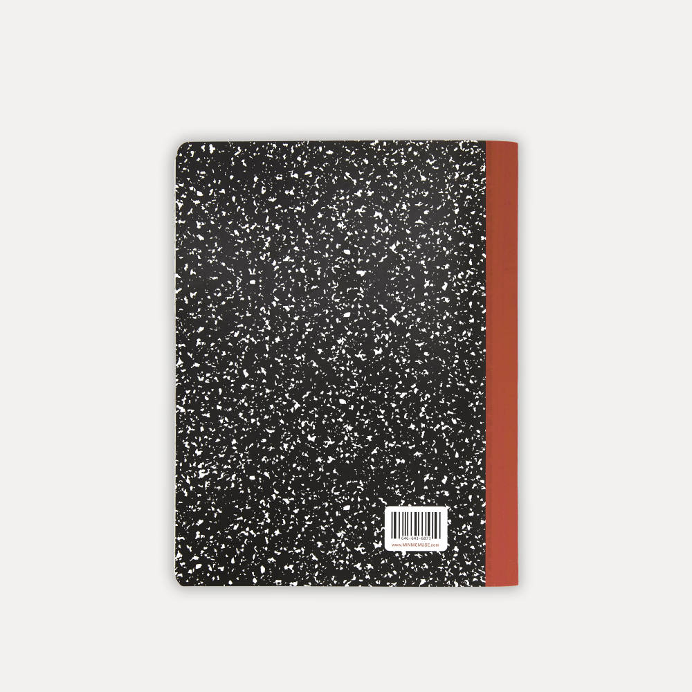Minnie Muse , Composition Notebook, Back Cover