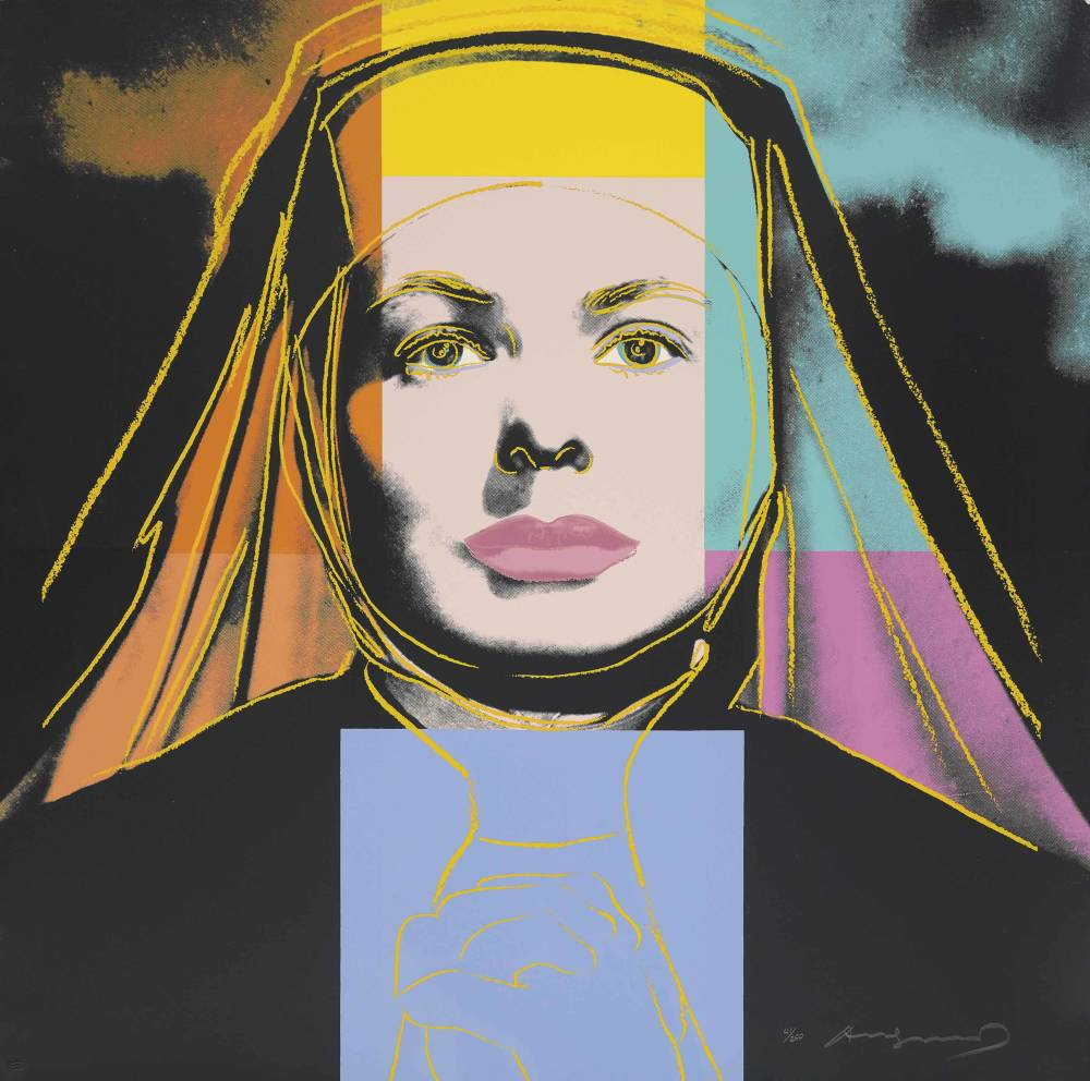 Andy warhol  the nun  from  ingrid bergman  1983