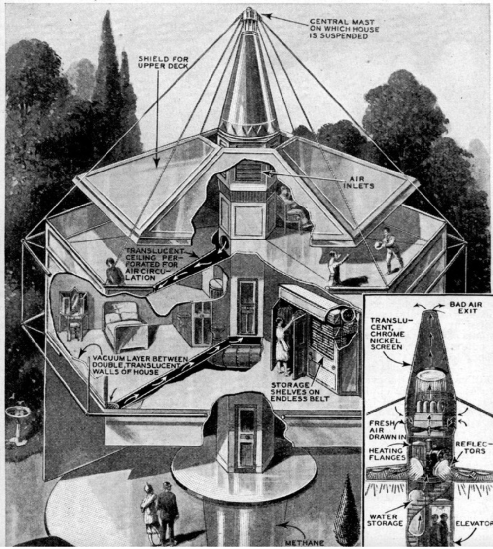 Sketch of Dymaxion House, Sketch of Dymaxion House