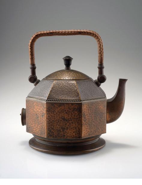 Peter behrens  brass and wicker  kettle  1909