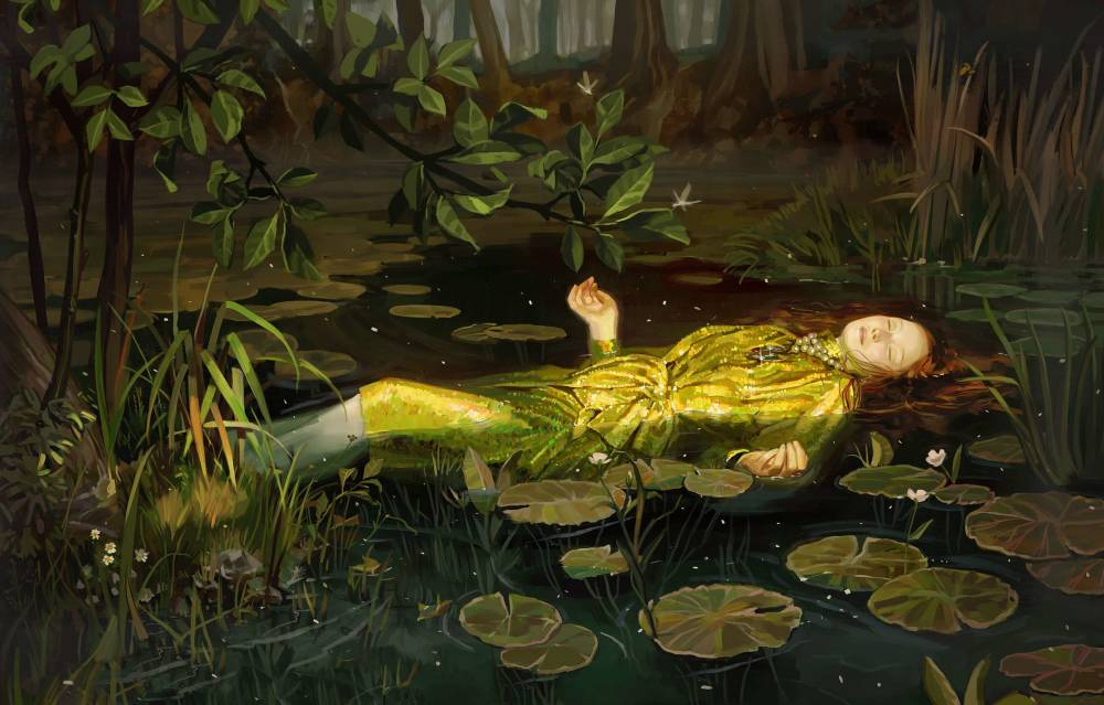 "Gucci, Ad Campaign, S/S 2018 , Inspired by ""Ophelia"" by John Everett Millais, 1852"