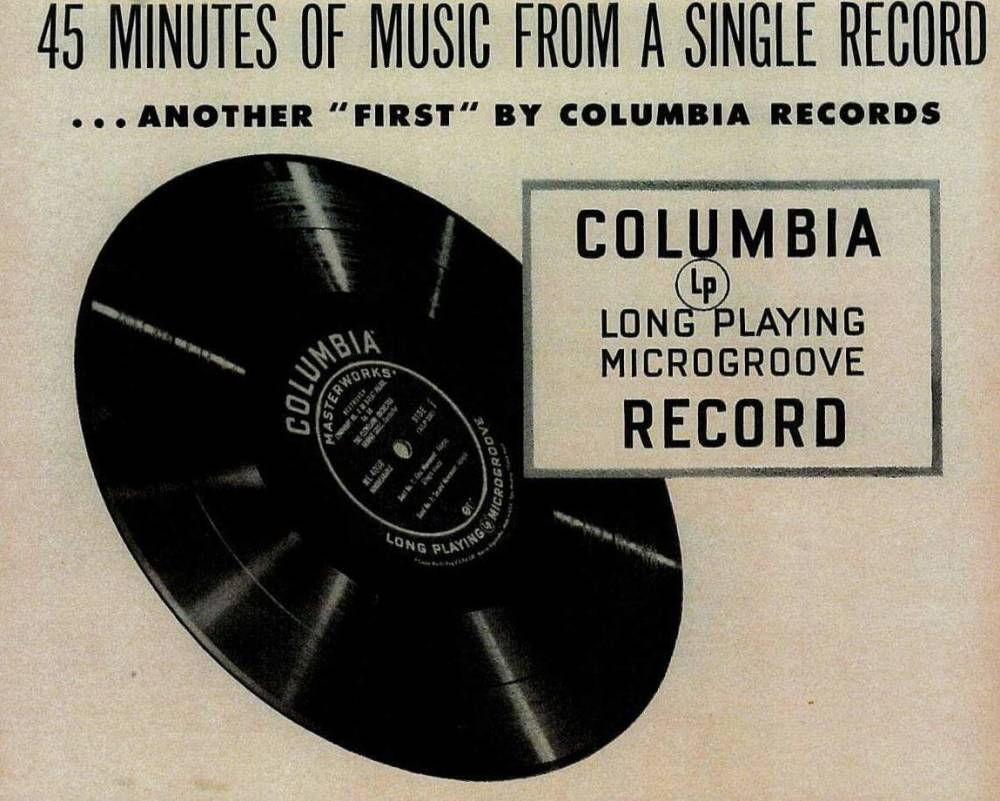 Columbia Records , 33 1/3 RPM Records, 1948