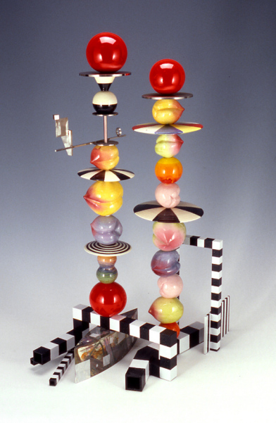 Peter shire  double peach stack  2004