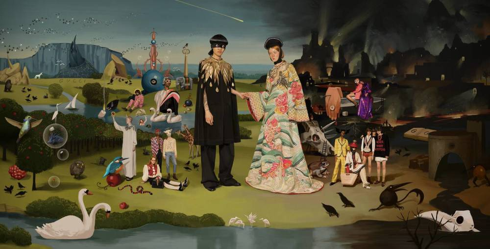 "Gucci, Ad Campaign, S/S 2018, Inspired by ""The Garden of Earthly Delights"" by Hieronymus Bosch, 1490–1510"