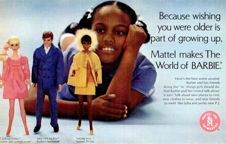 Mattel , Vintage Barbie Advertisement