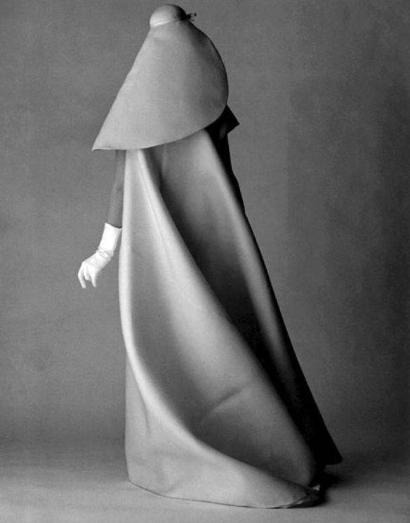Cristobal balenciaga  wedding dress and hat  1967