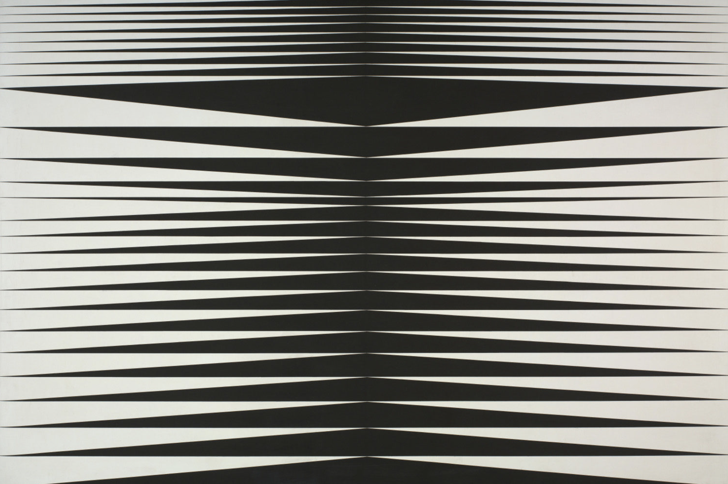 Bridget riley  he  ros montant et descendant  1965