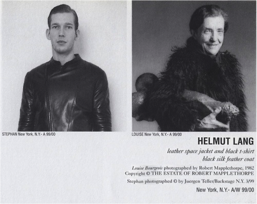 Helmut Lang, Ad Campaign, F/W 1999-00 , Louise Bourgieous photographed by Robert Mapplethorpe, 1982