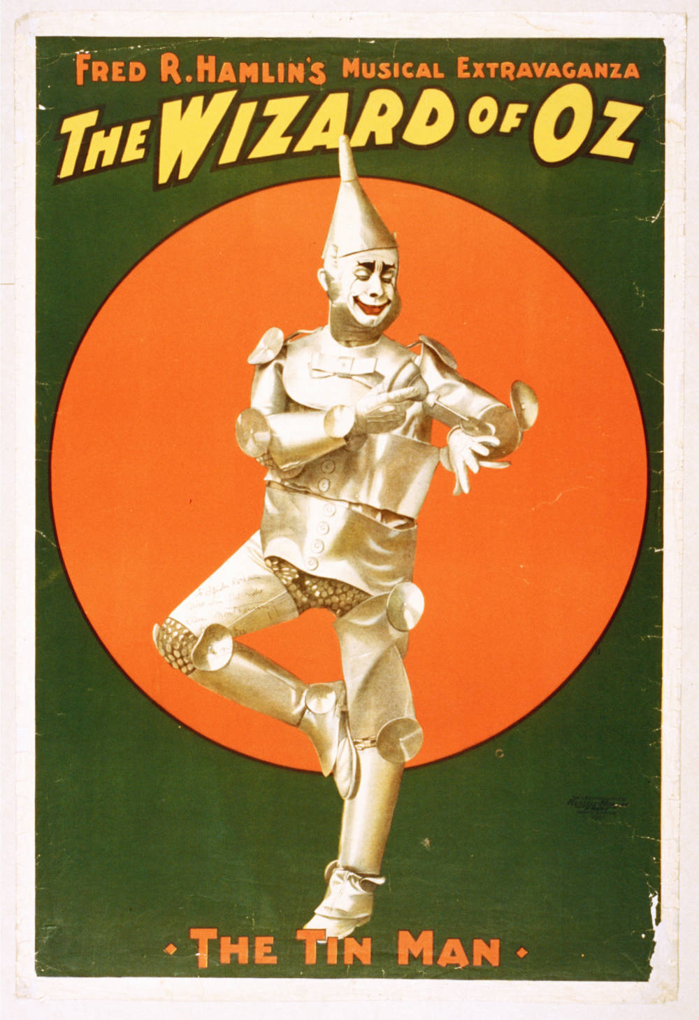 Fred r. hamlin  the wizard of oz musical  poster  1903