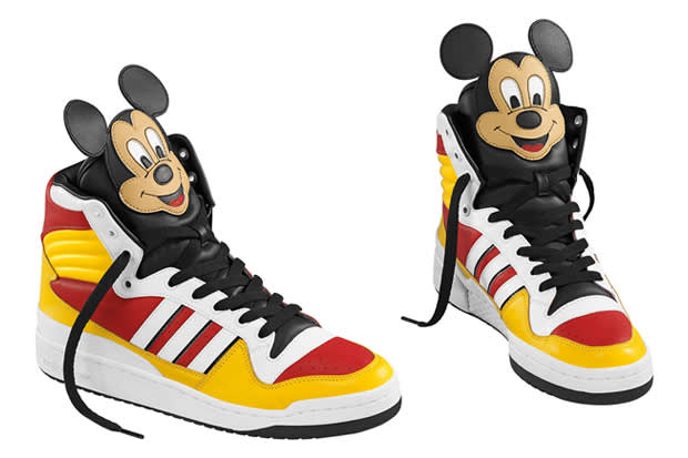 "Jeremy Scott, Jeremy Scott x Adidas ""Mickey Mouse"" Fall 2009 Sneakers"