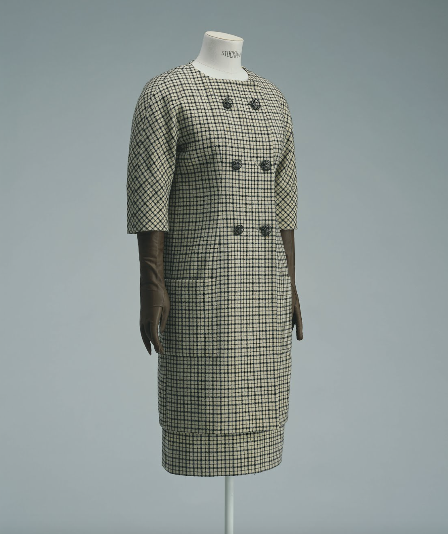 Cristo  bal balenciaga for balenciagaspring summer 1958  day dress  kyoto costume institute
