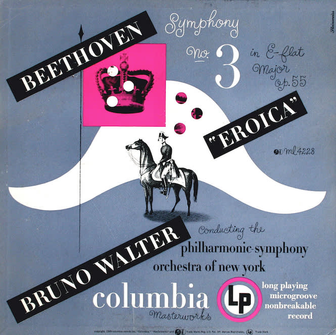 Alex Steinweiss, Columbia Masterworks, Beethoven Symphony No. 3 in e Flat Major opus 55 Eroica, 1949