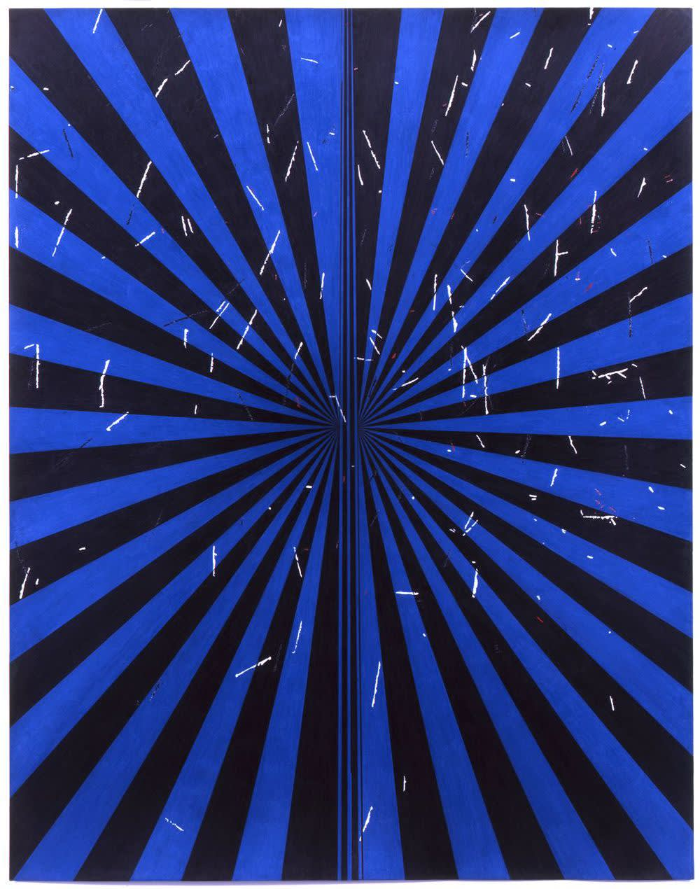 Mark grotjahn untitled  black and copenhagen blue butterfly 43.08   2011