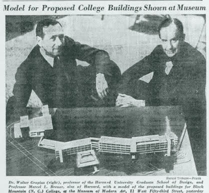 Walter Gropius, Model of Black Mountain College, late 1930s