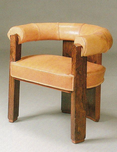 Robert mallet stevens  wood and leather chair  1930