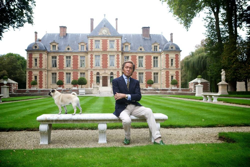 With Valentino, At Château de Wideville