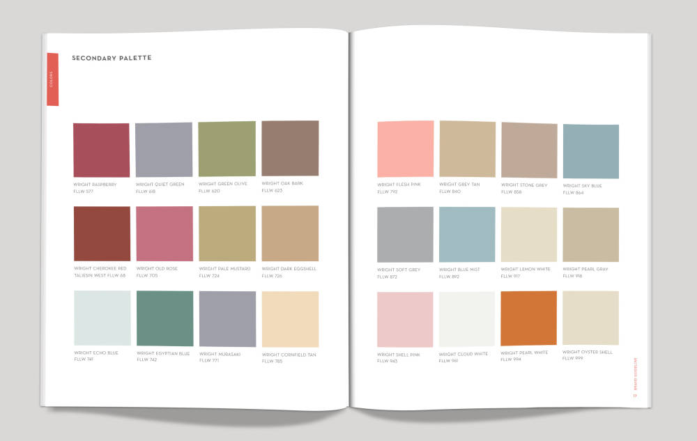 Frank Lloyd Wright, Secondary Color Palette
