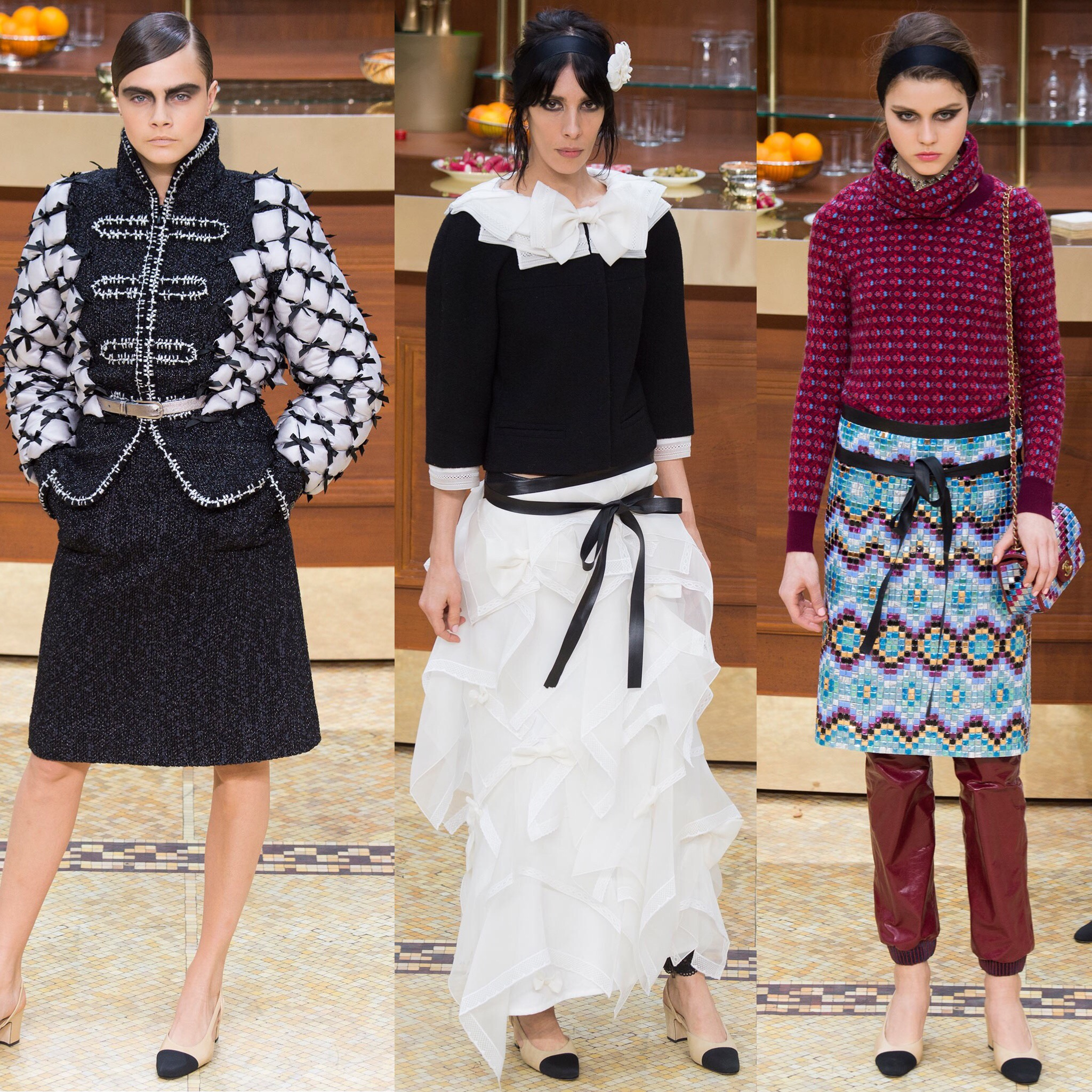 Chanel fw 2015  three images