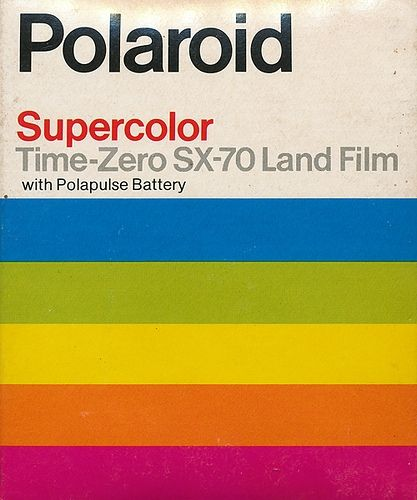 Polaroid supercolor time zero sx 70 land film