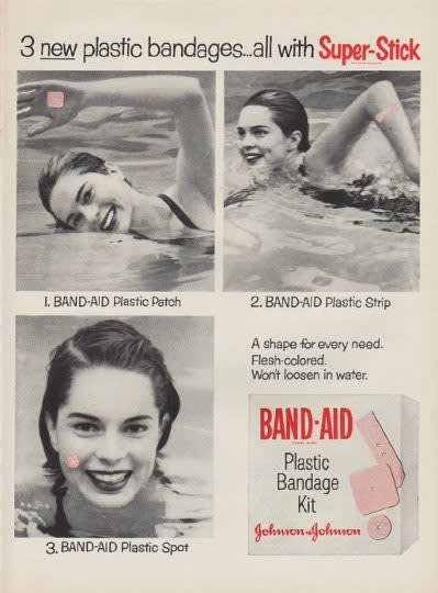 Johnson and Johnson, Band-Aid Ad, 1954