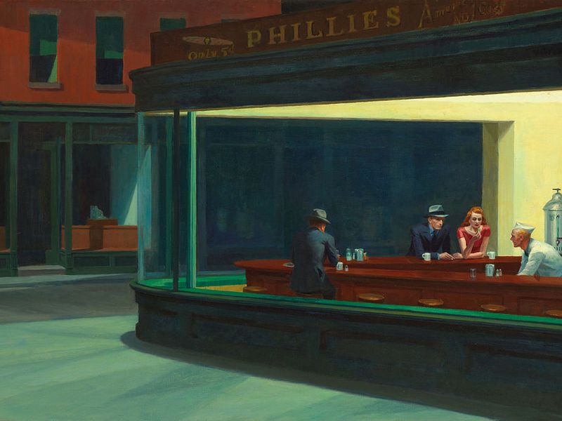 Edward hopper  nighthawks  1942.