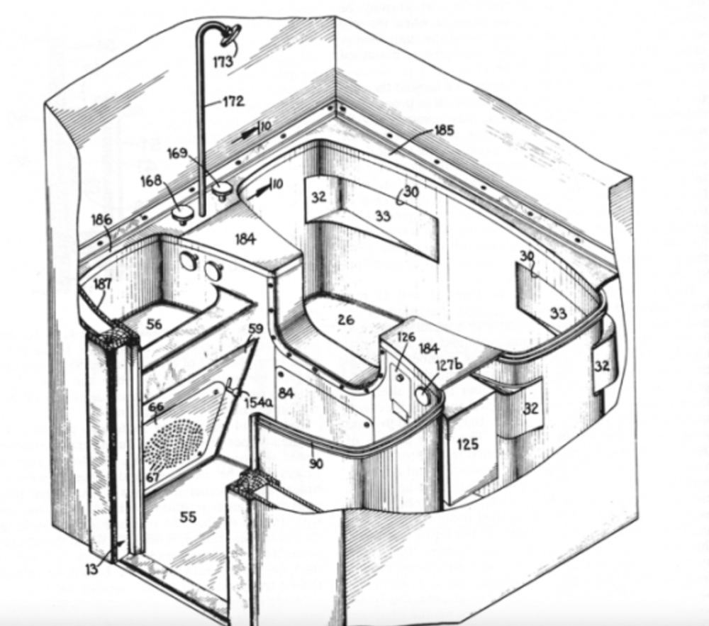 Buckminster Fuller, Dymaxion House Bathroom Plan