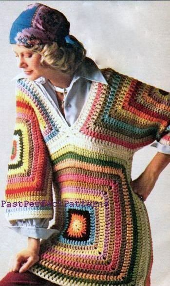 Vintage crochet knitting pattern  1960s