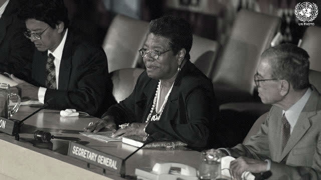 Maya Angelou , Speaking at The United Nations