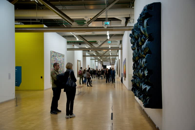 Centre Pompidou, Gallery Interior