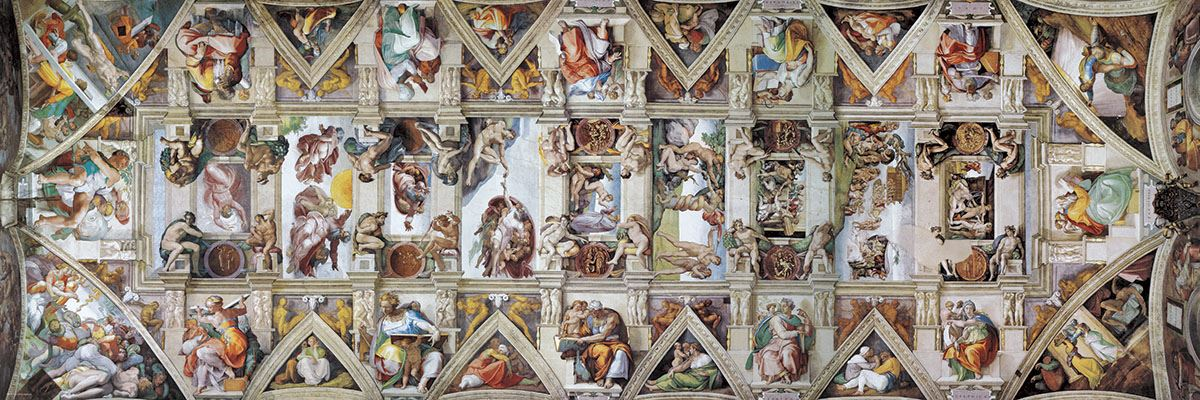 The ceiling of the sistine chapel