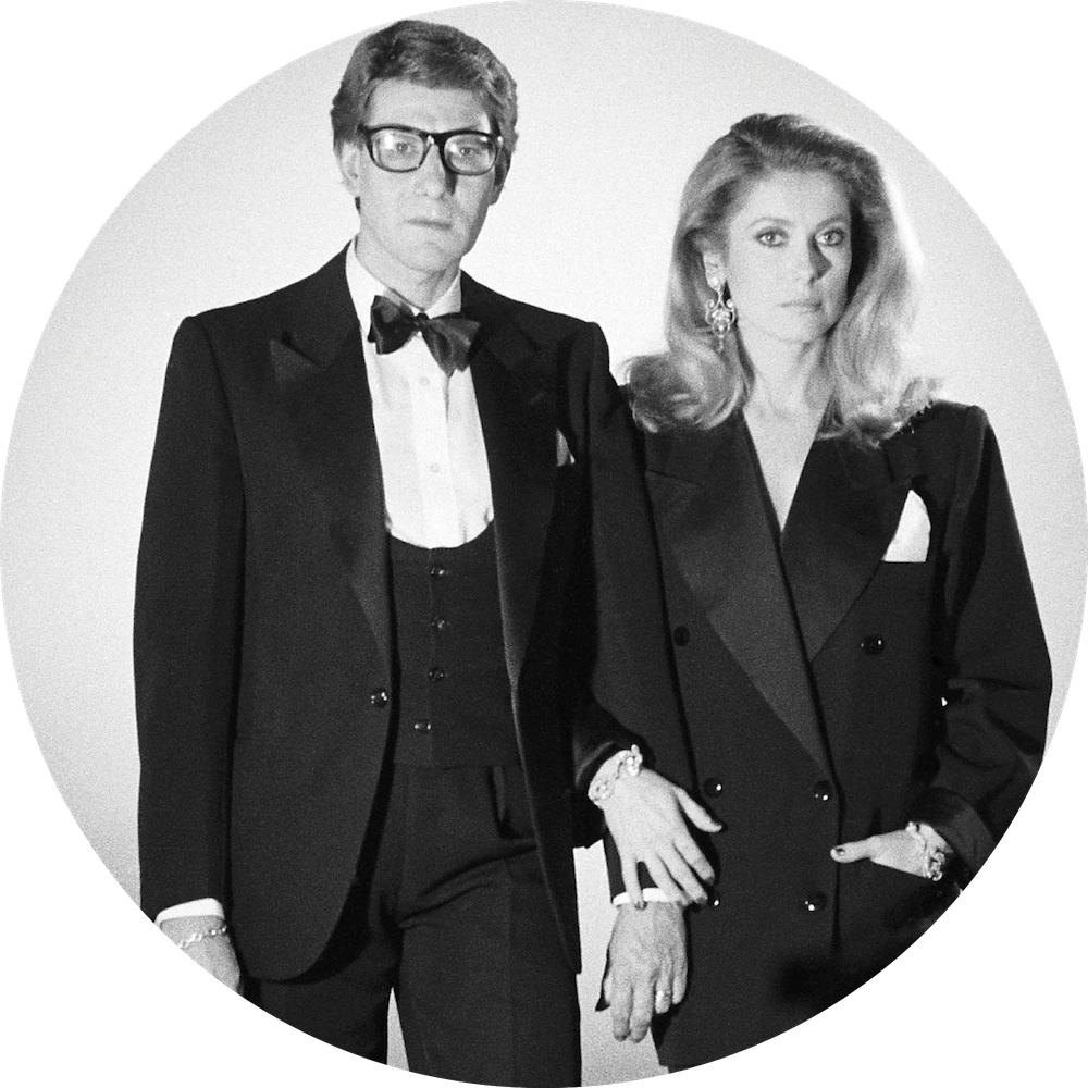 Yves saint laurent and catherine deneuve  circle