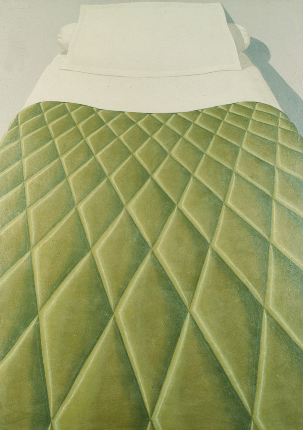Domenico gnoli green bed cover  1969