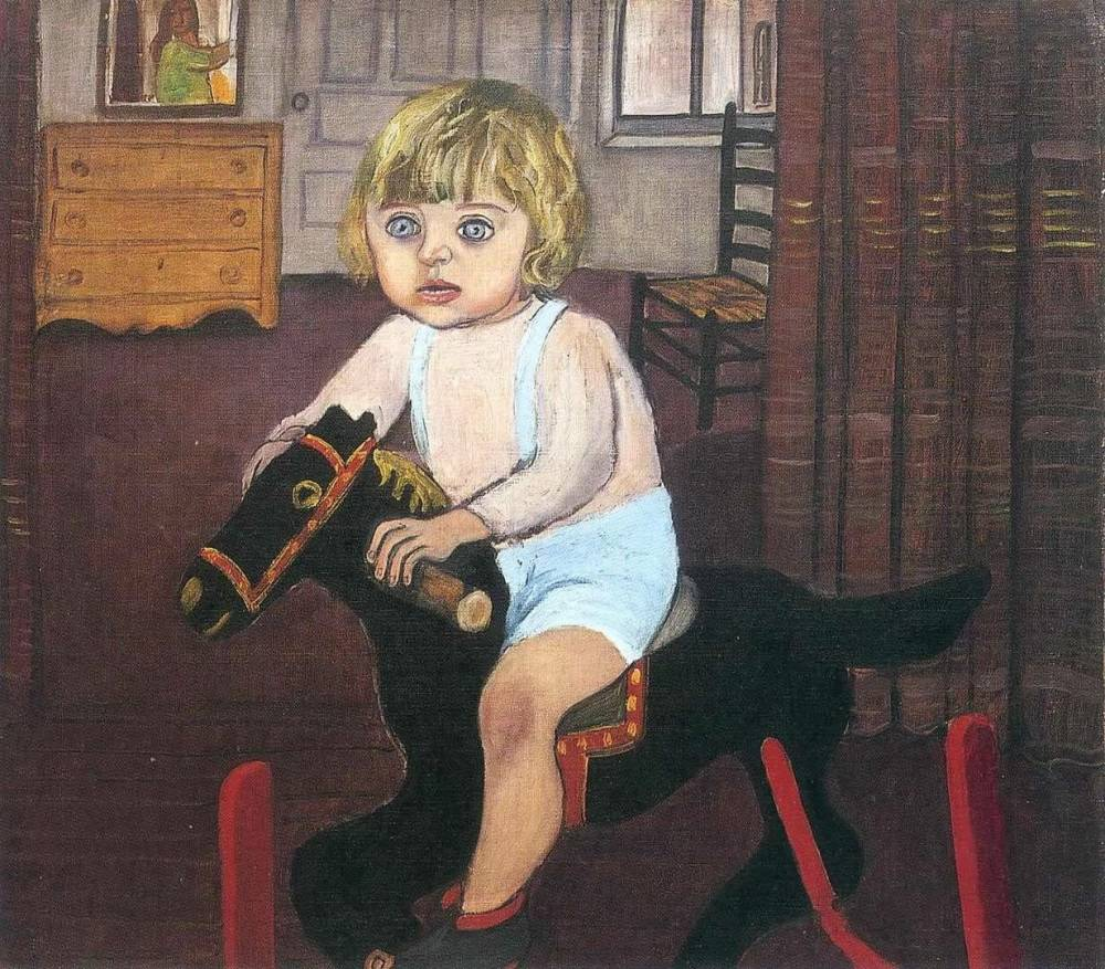 Alice Neel , Hartley on the Rocking Horse, 1943