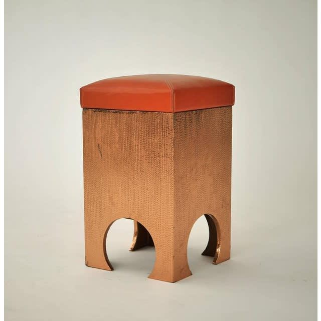 Francisco artigas copper clad stool  1960s