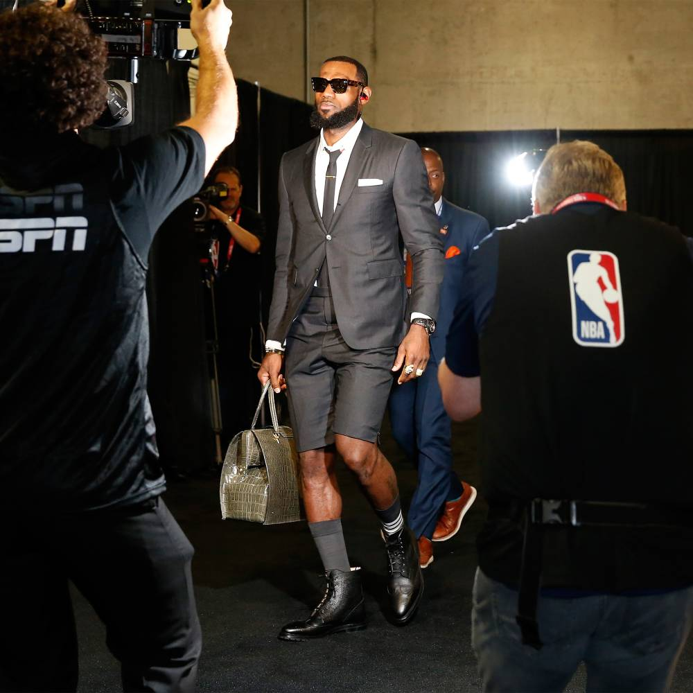 LeBron James, Wearing Thom Browne, 2018