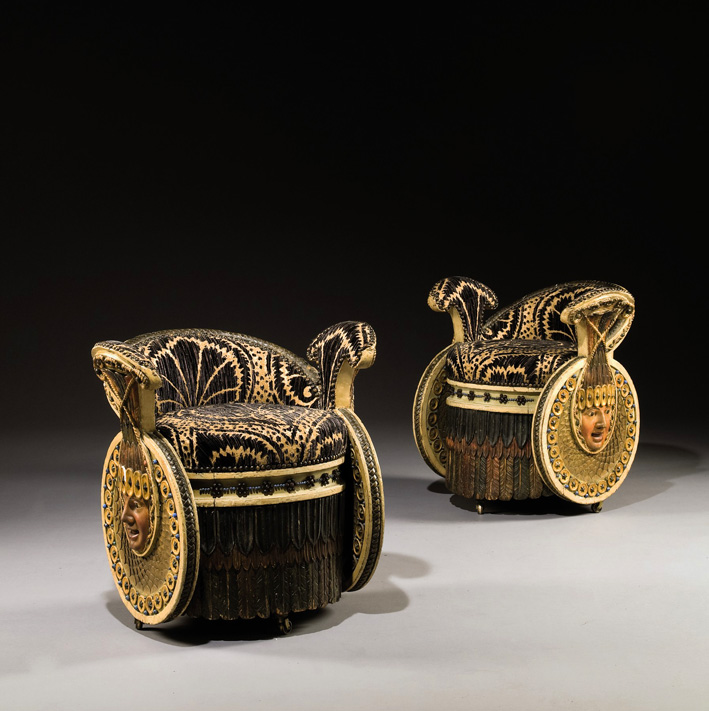 Empire period armchairs  1812