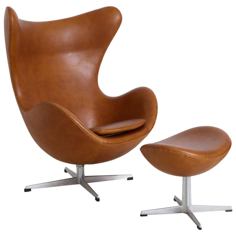 Arne Jacobsen, Egg Chair with Ottoman