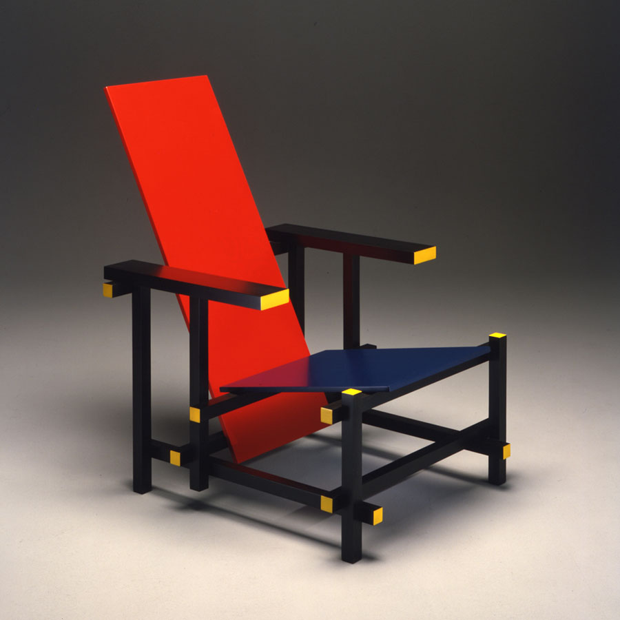 24. down rietveld  red and blue chair  1917