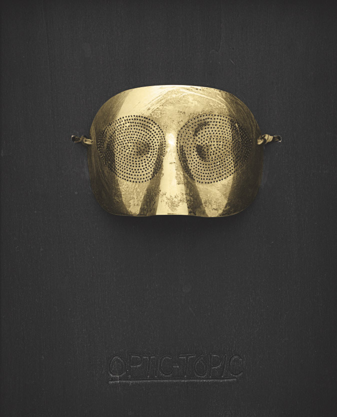 Man ray     optic topic    mask in gilt silver  1974