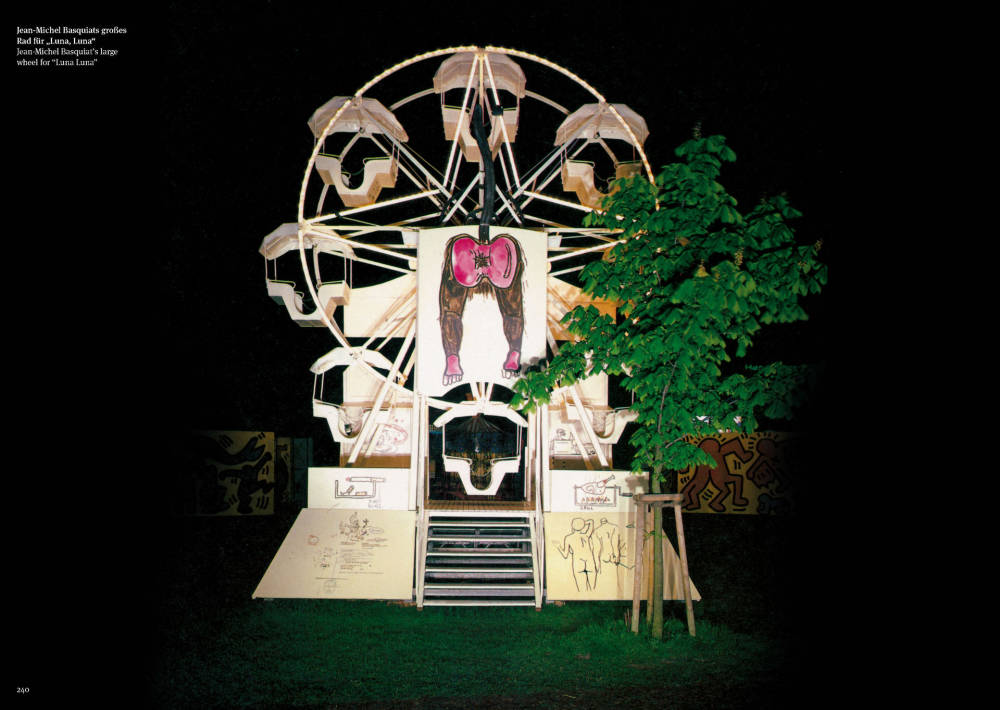 "Jean Michel-Basquiat, Large Wheel, ""Luna Luna"""