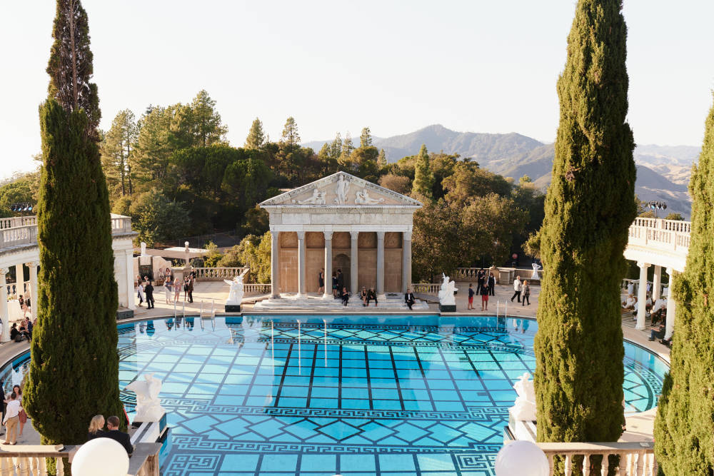 Roman and Grecian inspired pools, Built for publisher William Randolph Hearst