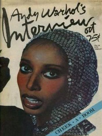 Donyale luna featured on the cover of the october 1974 edition of his magazine   interview