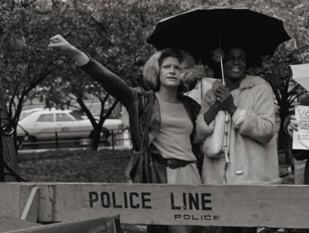 Marsha P. Johnson and Friend , Protesting in NYC