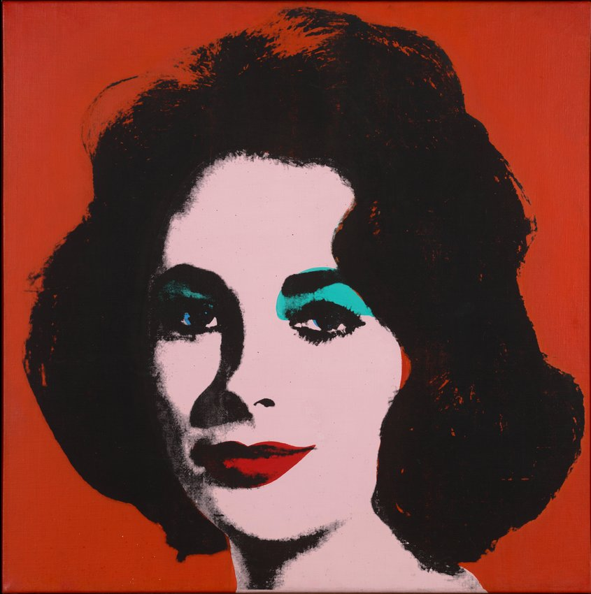Andy warhol  liz  6  early colored liz   1963