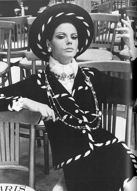 Chanel  photo by helmut newton  vogue us 1967