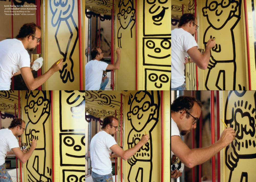 "Keith Haring, ""Narrating Walls"" Carousel"